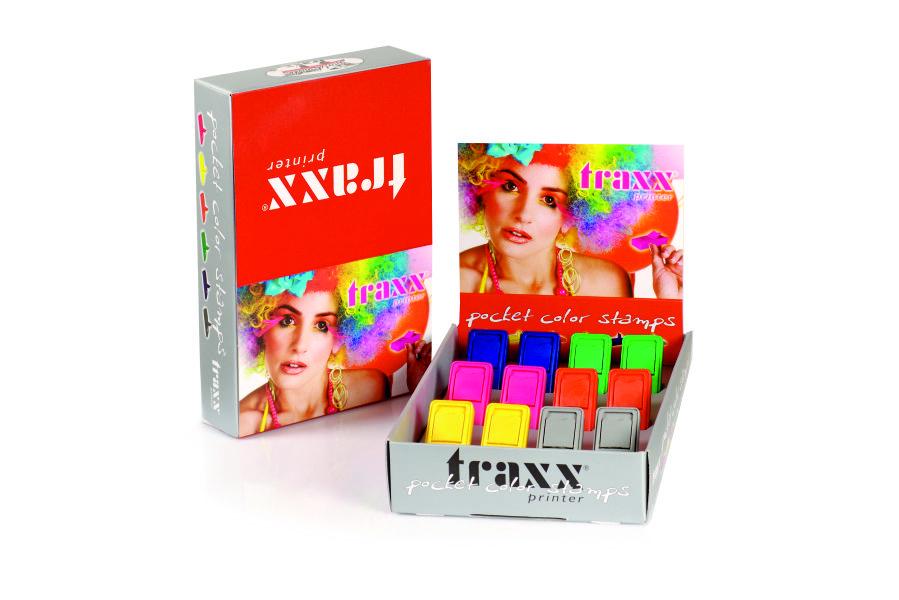 Sello de bolsillo TRAXX 52050 (Expositor con 12 unidades)